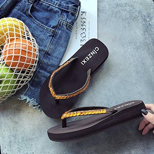 taille Chaussons ZHANGRONG Femelle Mode Des Extérieure De Semelle Pente B Avec Sandales Épaisse Plage Été De Antidérapants 36 Couleur Chaussures B pUqx1USw