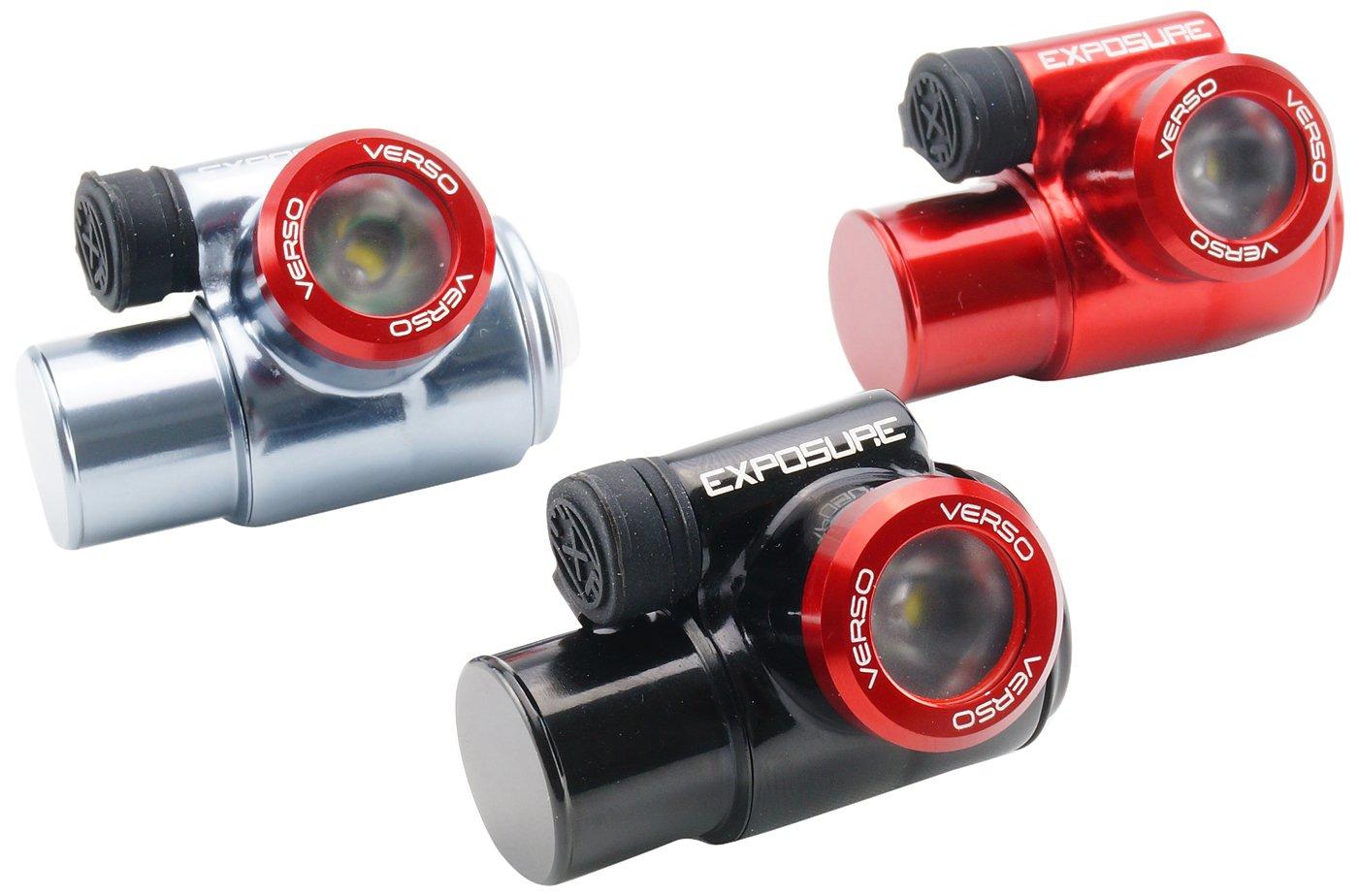 Exposure Lights Stirnlampen Verso: Ultra-Kompakte Leichte Stirnlampe - Gun Metal, EXPVERSOGMG