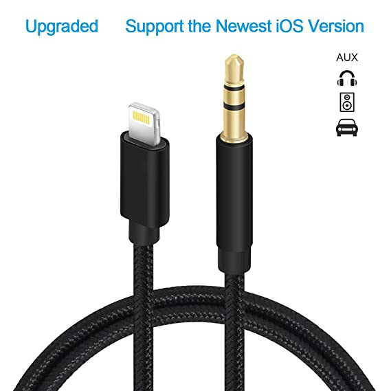 low priced c9fe3 3e98c [Upgraded] Aux Cord for iPhone, Sikeda Car Aux Cable with 3.5mm Jack Stereo  Audio Connector, Compatible with iPhone X/8/8 Plus/7/7 Plus and Perfect ...