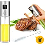 Oil Sprayer for Cooking, Ripe US Olive Oil Sprayer Glass Bottle Vinegar Bottle Oil Dispenser with Brush Stainless Steel for BBQ /Cooking/ Frying/ Salad/ Baking