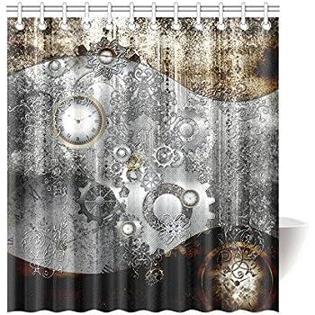 Find Arts Custom Shower Curtain Steampunk In Vintage Design 66 X 72 Inch