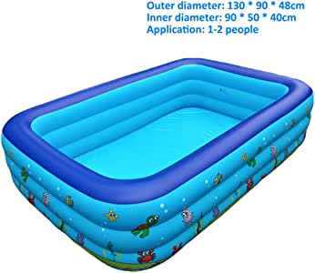 Piscina Hinchable Infantil, Piscinas De Tamaño Completo Easy Set Kiddie con Bomba Y Kit De Parches, para Los Niños, Adultos, Bebés, Niños(con Capacidad para 10 Personas),3layers 130X90X48CM: Amazon.es: Hogar