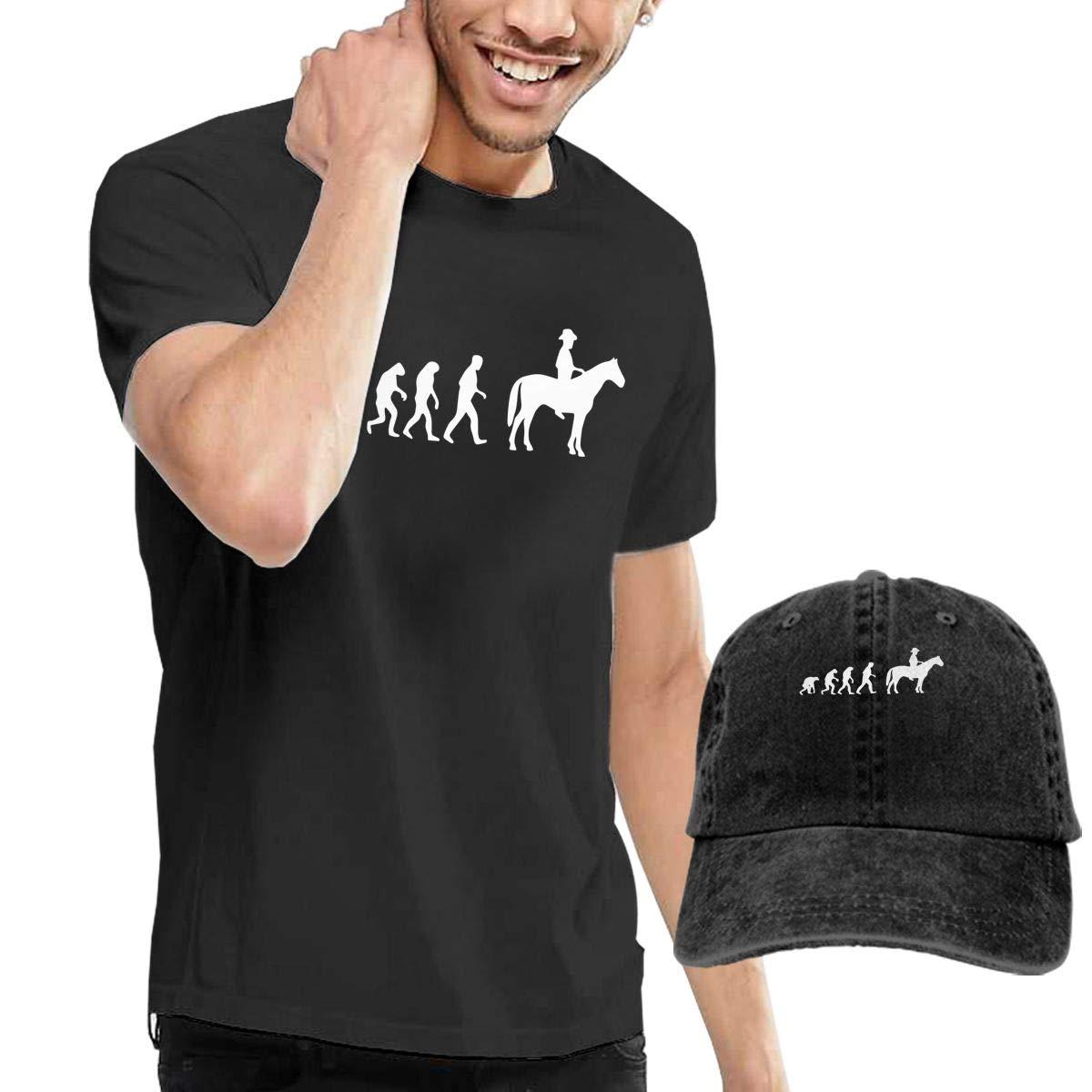 QqZXD Evolution Cowboy Fashion Mens T-Shirt Hats Youth /& Adult T-Shirts