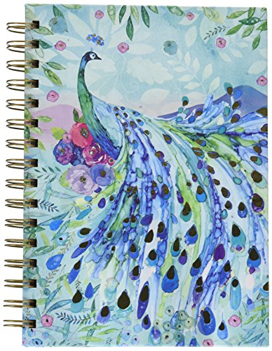 Punch Studio, Pagoda Peacock, Spiral Journal, 104 full-colored lined - Pagoda Design