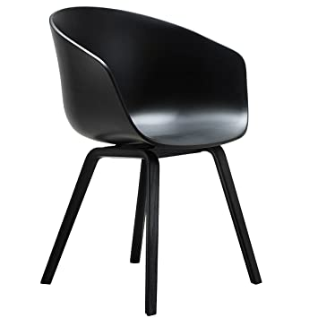 About A Chair 22 Armchair.Hay About A Chair 22 Armchair Black Frame Ash Staind Black Amazon