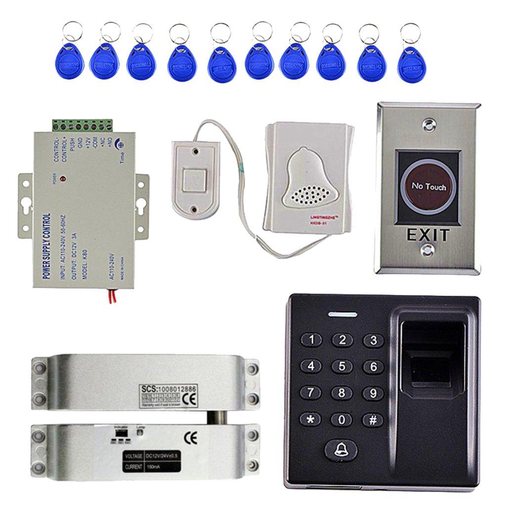 Flameer Durable 500 Fingerprint Access Control 10 Key Card Keypad Smart Lock Work Off Line Security Systems