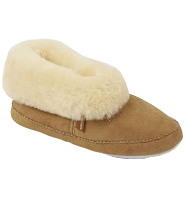 ee550657c966 Cuffed Ladies Soft Soled Sheepskin  quot Bootie quot  Style Slipper (ALL  SIZES AVAILABLE!