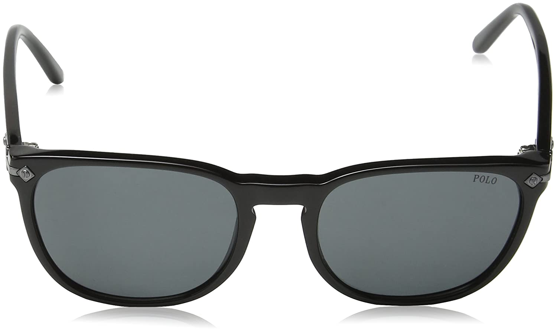 8426ac1d0482 Polo Ralph Lauren Men's 0Ph4107 500187 53 Sunglasses, Black/Gray:  Amazon.co.uk: Clothing