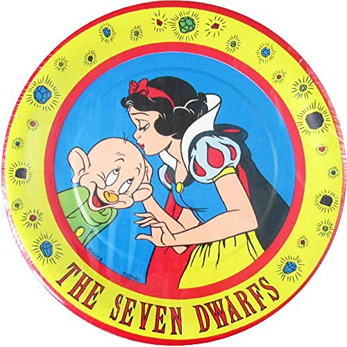 Snow White and the Seven Dwarfs Vintage Small Paper Plates ()