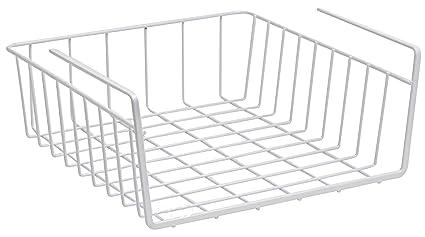 Under Shelf Basket Wire Rack   Easily Slides Under Shelves For Extra Cabinet  Storage. Under