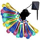 Eden Fghk Solar String Lights Outdoor Multicolor 20 LED Water Drop Garden Christmas Party Decor Dream Fairy Lamp