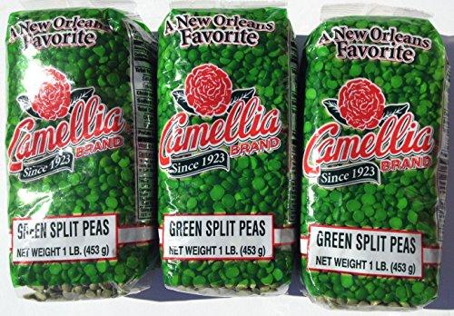Camellia Dry Green Split Peas 1Lb (3pk)