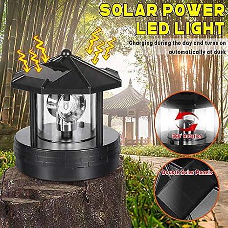 Gmxop luz Solar LED giratoria para jardín, Patio, césped, iluminación para decoración del hogar al Aire Libre: Amazon.es: Hogar