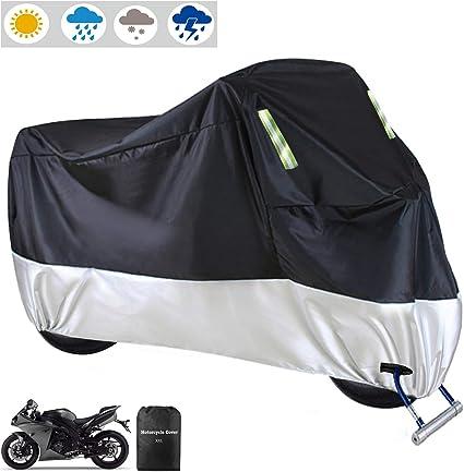 Motorrad Abdeckplane Outdoor Motorradabdeckung Moped Abdeckung Wasserdicht Roller Regenschutz Sonnenschutz Für Alle Motorräder Auto