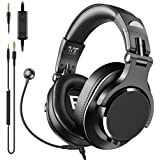 bopmen Computer Headset with Microphone - Wired Gaming Headphones with Boom Mic, On-Line Volume Control & Share-Port Over Ear