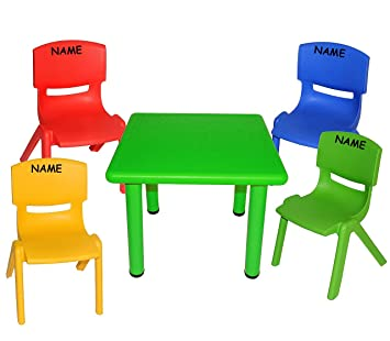 Kindertischgr Uppe Table Groupe 4 Chaises Enfant Multicolore Incl
