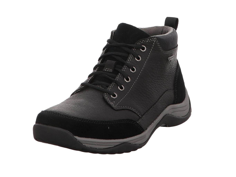 O cualquiera barril Teoría establecida  Buy Clarks Men?s Baystone GTX Ankle Boots Black (Black Leather) 9 UK at  Amazon.in