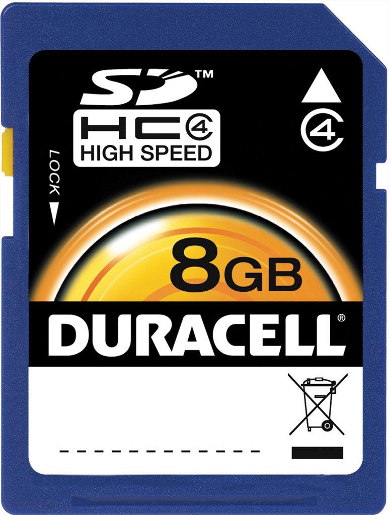 Duracell 8GB SD memory Card DU-SD-8192-R
