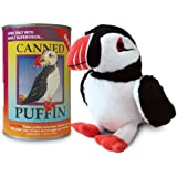 Canned Critters Stuffed Animal: Puffin 6""