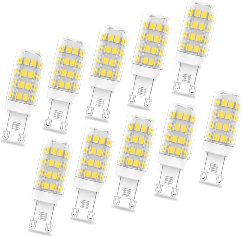 10 Pack LED Bulb 3W G9 LED Bulb Equivalent of 30W Halogen Lamp 420LM 85Ra 360 /° Degree NO Dimmable Energy Saving Lamp,Warm White,100~130V