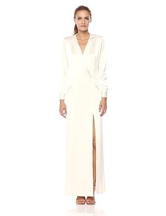 1e31134144b0 Amazon.com: Halston Heritage Women's Long Sleeve Shirt Dress Gown ...