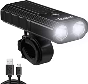Cycloving 1000 Lumen Bike Light with Power Bank Function. USB Rechargeable Bicycle Headlight, IPX6 Water Resistant Front Light, Easy to Install - Cycling Safety Flashlight