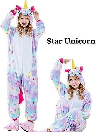 DHLFHRTISH Pijama Invierno Unisex Unicornio Pijamas Kigurumi ...