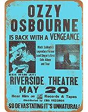 OZZY Osbourne in Milwaukee Póster De Pared Metal Retro Placa Cartel Cartel De Chapa Vintage Placas Decorativas Poster por Café Bar Garaje Salón Dormitorio