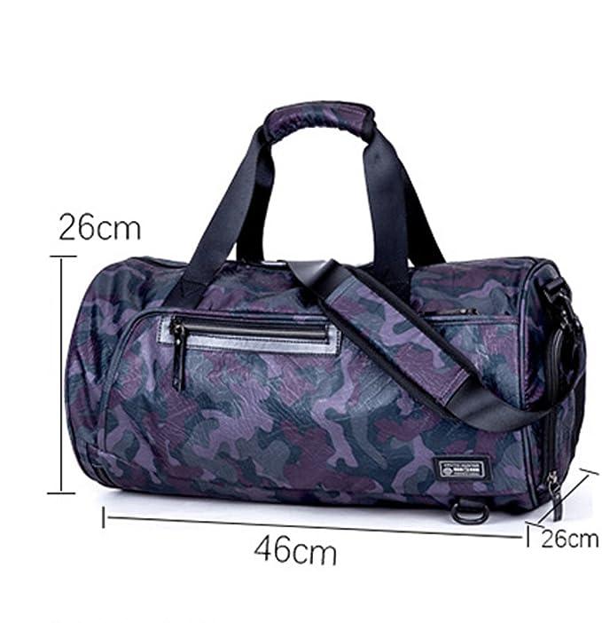 Sac de voyage Duffel,ZAMAC grand sac de sport et de sport, sac de voyage imperméable avec bandoulière amovible pour femmes et hommes