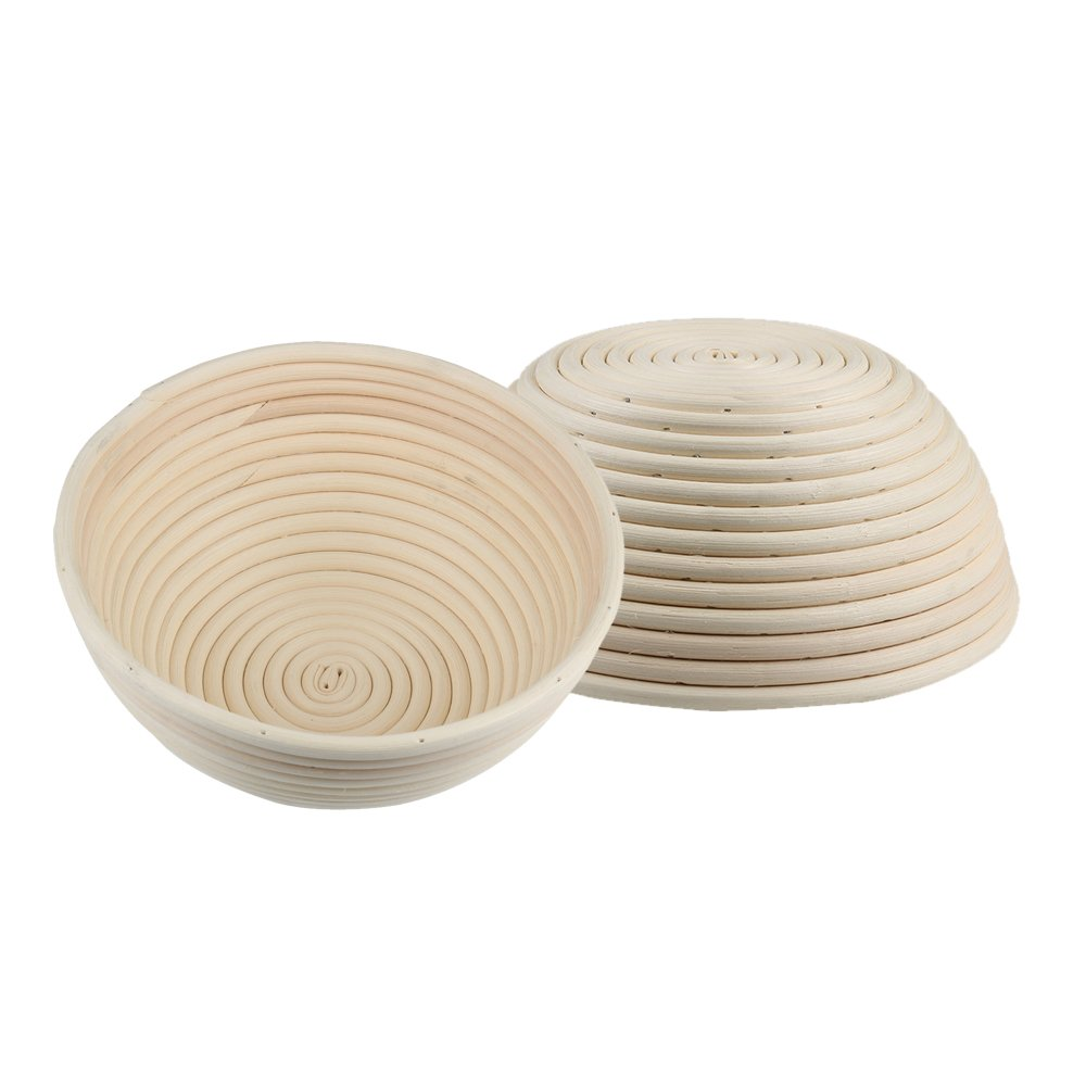 Gimiton 2PCS 9 inch Banneton Proofing Basket Round Banneton Bread Proofing Basket Bowl Rattan Cane Brotform Dough Bread Baking Rising Artisan Baskets
