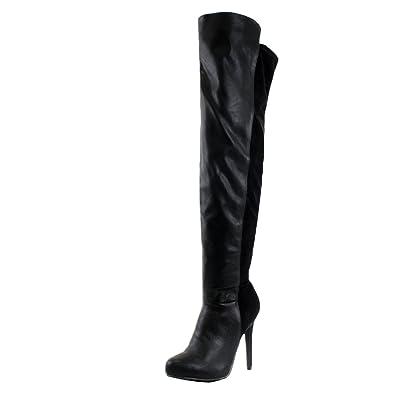 Amazon.com | Breckelles Pamela-13 Over The Knee Thigh High ...