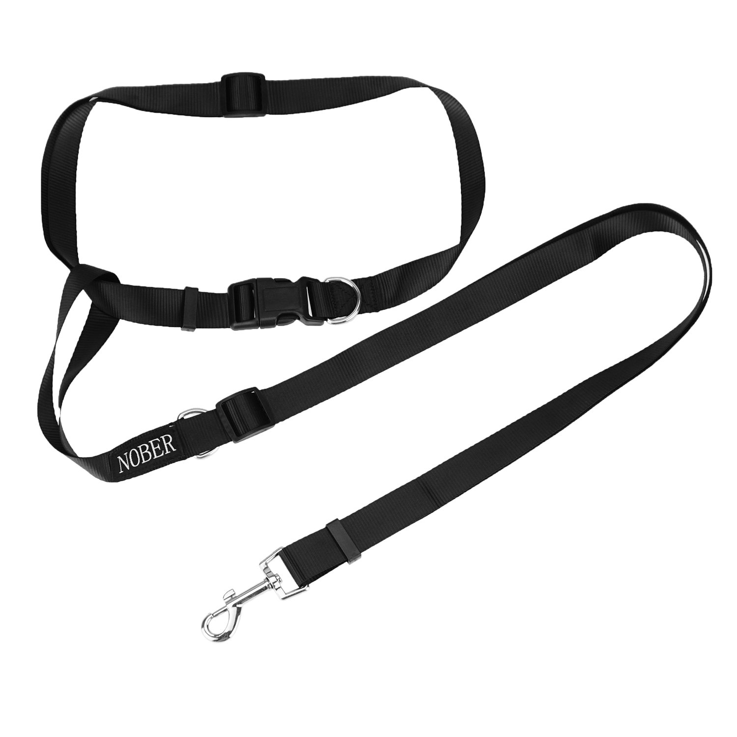 NOBER Hands Free Dog Leash for Running Walking with Adjustable Waist Belt