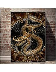 Zaosan Kids Adults Beginner Stamped Cross Stitch Kit Chinese Dragon Baby 11CT 40X50CM DIY Design Cross Stitch Simple Supplies Needlework Embroidery Home Decoration Gifts