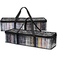 Imperius Portable CD Sturdy Storage Collection Bag/Moistureproof with Zipper and Carrying Handles/Total 48 CD's