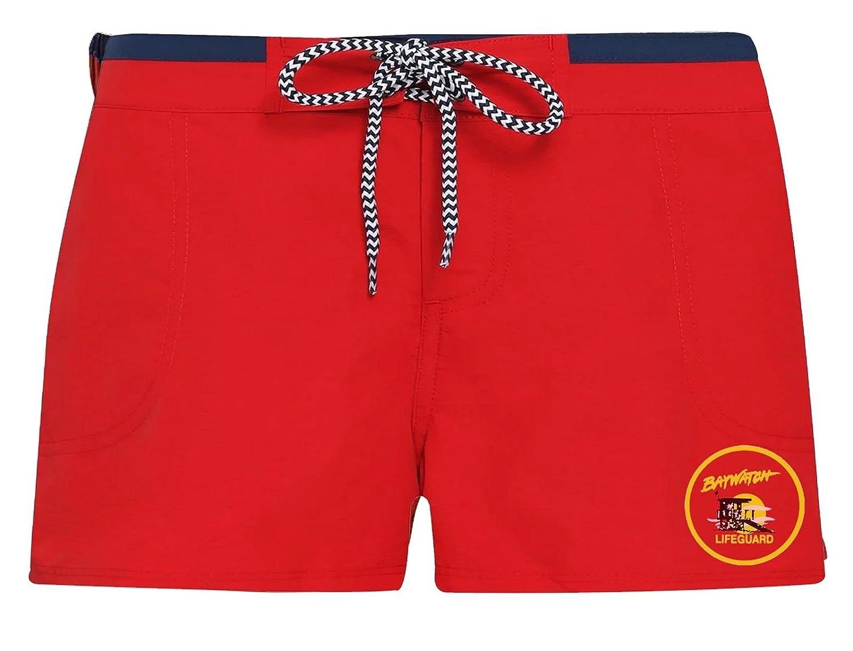 Baywatch Ladies Contrast Red/Navy Swim Shorts