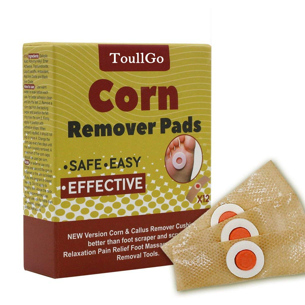 Corn Remover Corn Removal Corn Remover Pads, Corn & Callus Remover Cushions, Corn Plaster with Hole, It is a Better Solution for People Who Suffer The Pain of Corn, 12 Medicated Pads (12pc)
