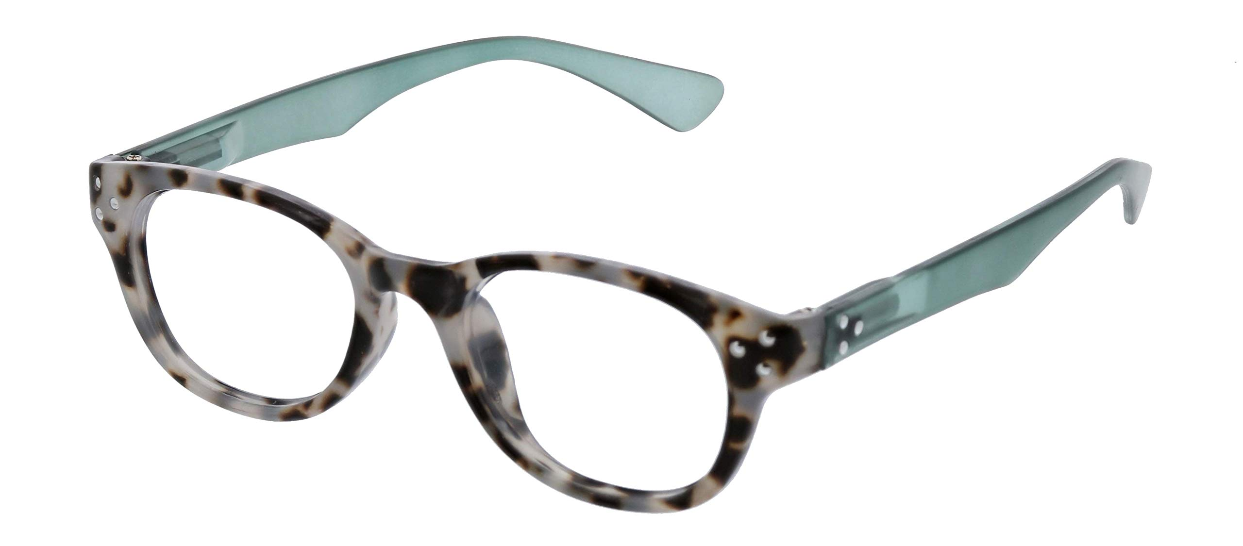 Peepers unisex-adult Reading Glasses Reading Glasses ,Show Stopper - Gray Tortoise/Green , 2.5 by Peepers