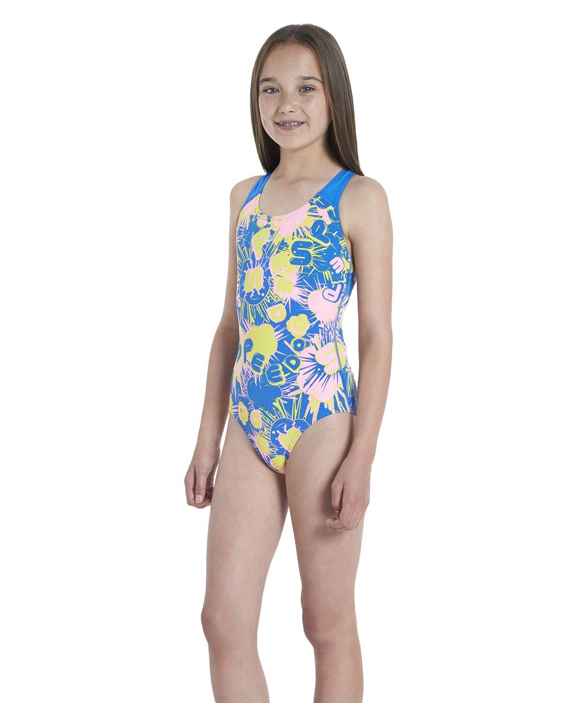 Speedo Girls Allover Splashback Print 45 Swimsuit