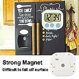 3 Pack Digital Kitchen Timer Magnetic Back Big LCD