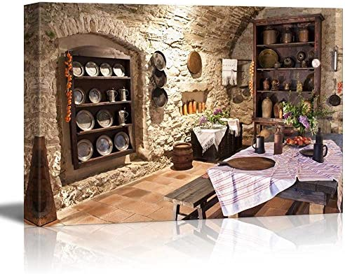 Old Kitchen of Castle Slovakia Vintage Style Interior Decor Wall Decor