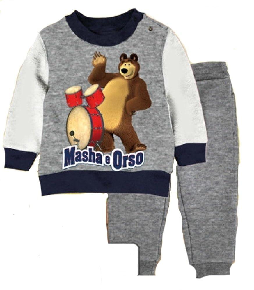 Completo Tuta Bimbo Bambino Masha e Orso *20478 Abbigliamento Cartoon