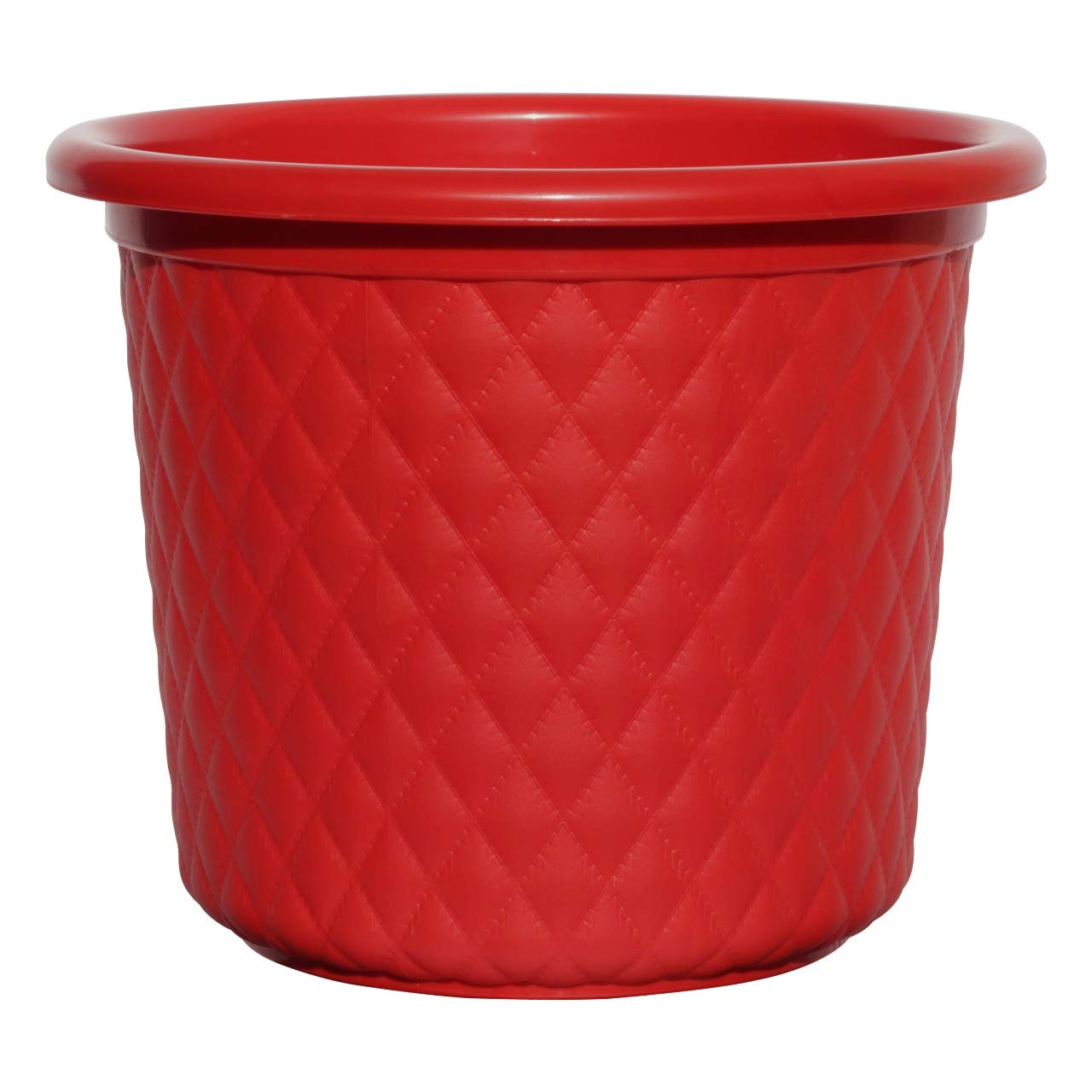 Amazon price history for AASHU Heavy Duty Leather Finish Plastic Planter Pots Planters Indoor Planters for Outdoor (Size -10.5''Dia,Height-9'' Colour -red)-Pack of 1