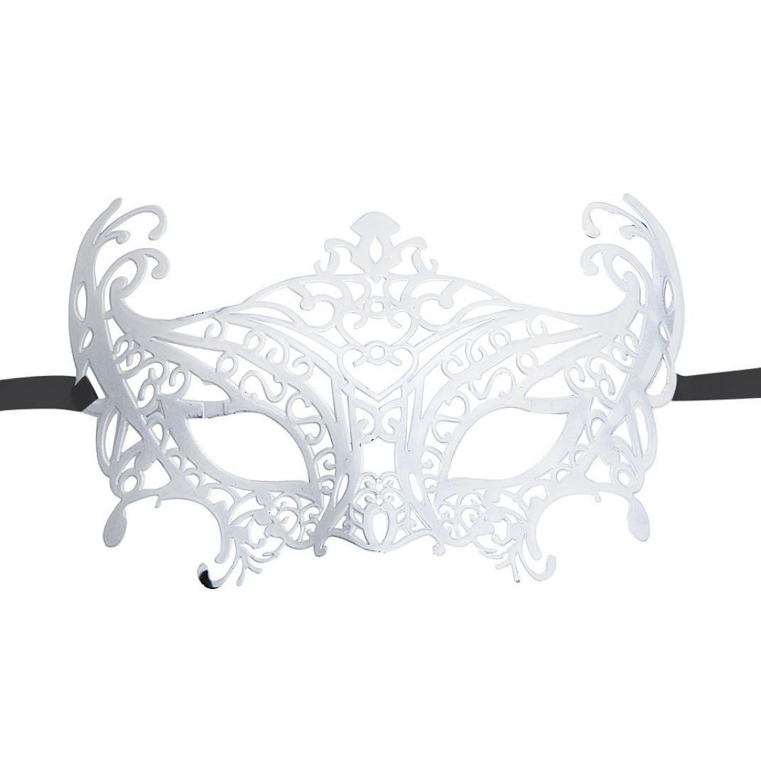 Boomboom Venetian Hollow Masquerade Halloween Mask (White) by Boomboom (Image #1)