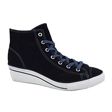 474779098113 Converse Chuck Taylor All Star Hi Ness 540301C Womens Laced Suede Wedge  Trainers Dark Navy - 6  Amazon.co.uk  Shoes   Bags
