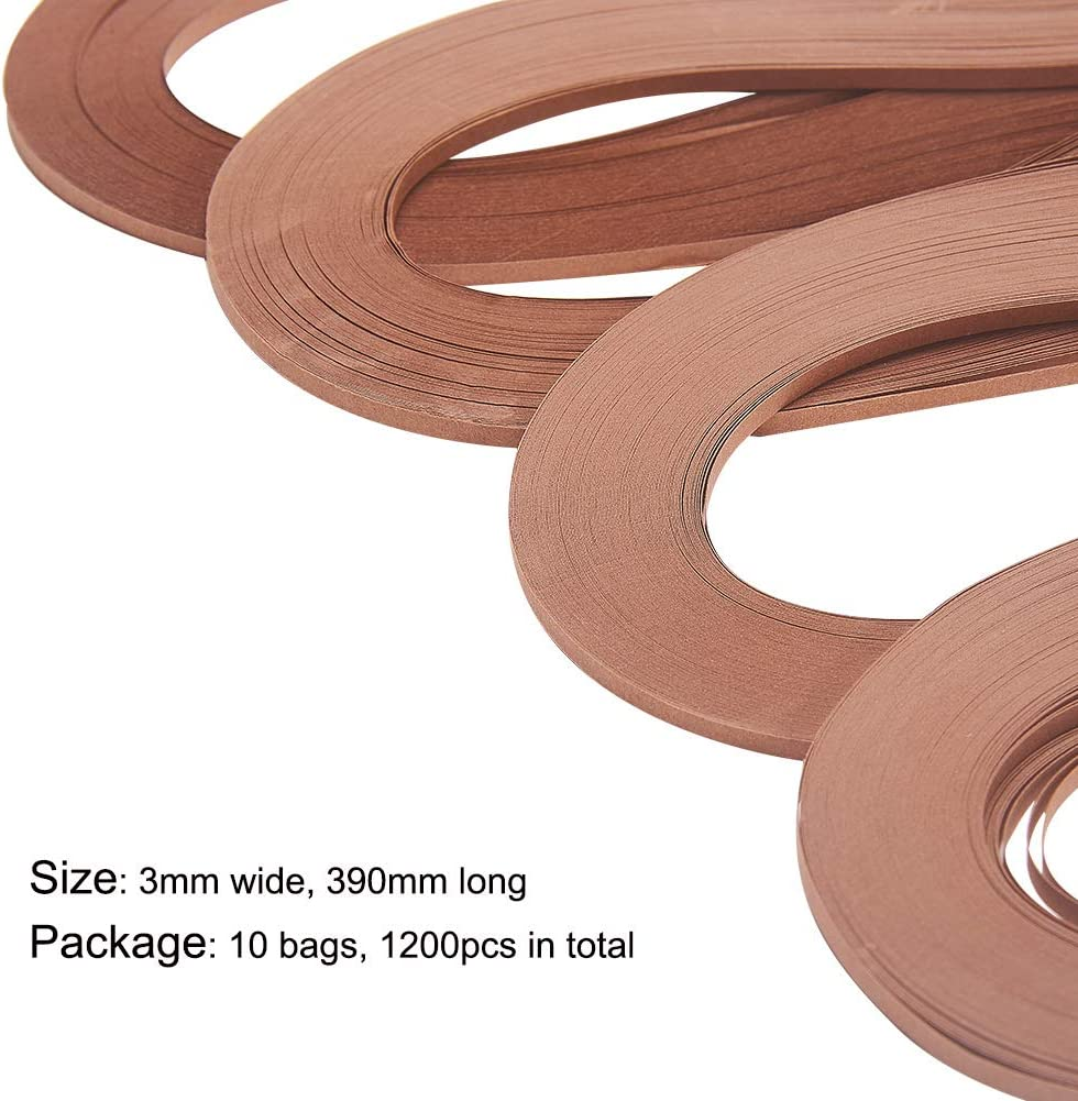 Multicolor Quilling Strip Set 5mm Width 39cm Length PH PandaHall 6 Colors 1200 Strips Paper Quilling Strips