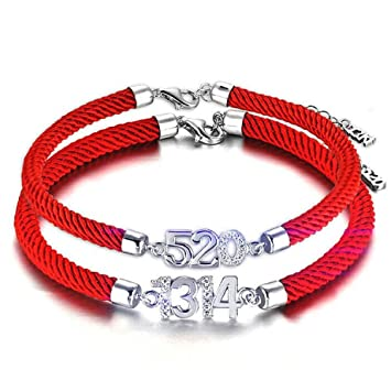 d89c805f14ca Pareja Pulseras Un Par De Cuerdas Rojas Japonesas Y Coreanas Pulseras De Moda  Pulseras Regalos De Cumpleaños