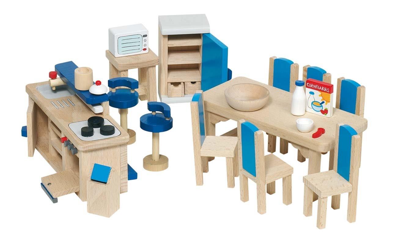 Mobili Per Bambole In Legno : Goki mobili per casa delle bambole salotto pezzi