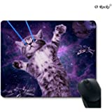 9 Inch x 7.5 Inch Mouse Pad The Story Between Cat And Space (Cute Cat)