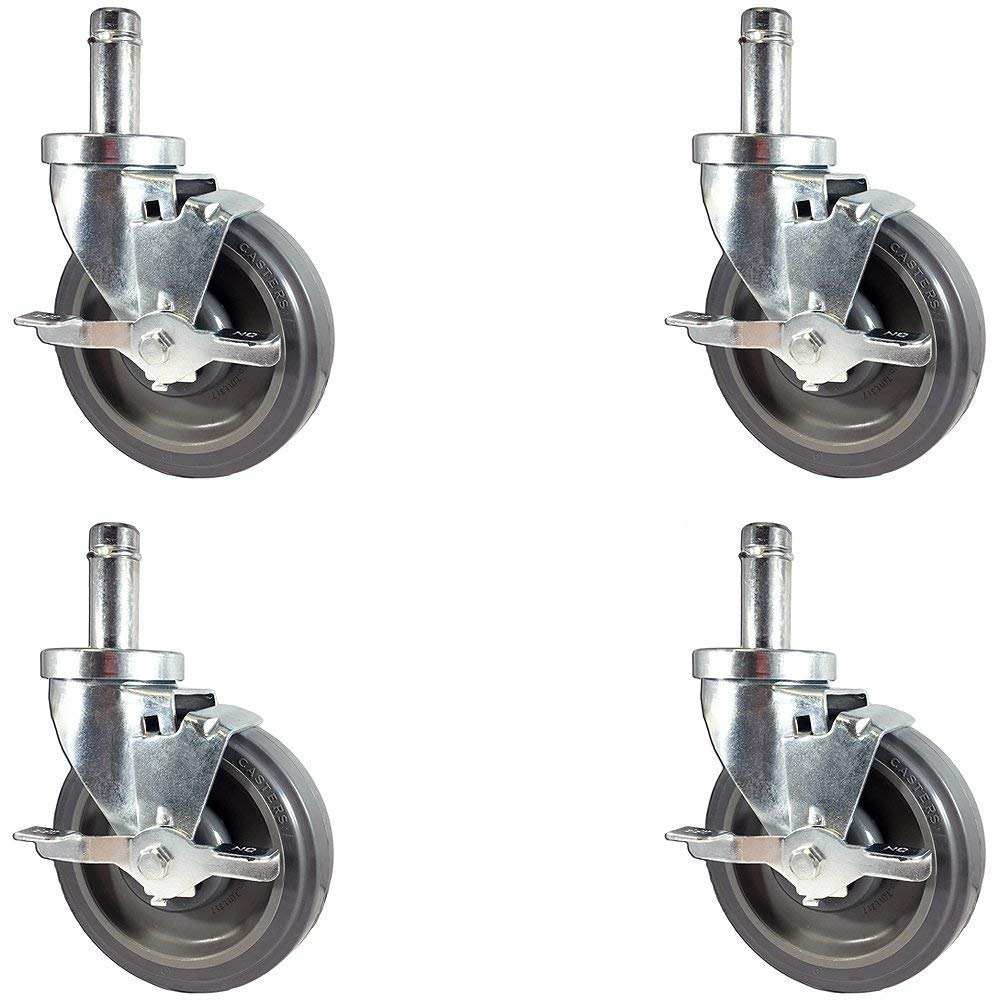 "Caster Barn - NEW 5"" Caster set for Metro Wire Shelving - Set of 4 Casters"