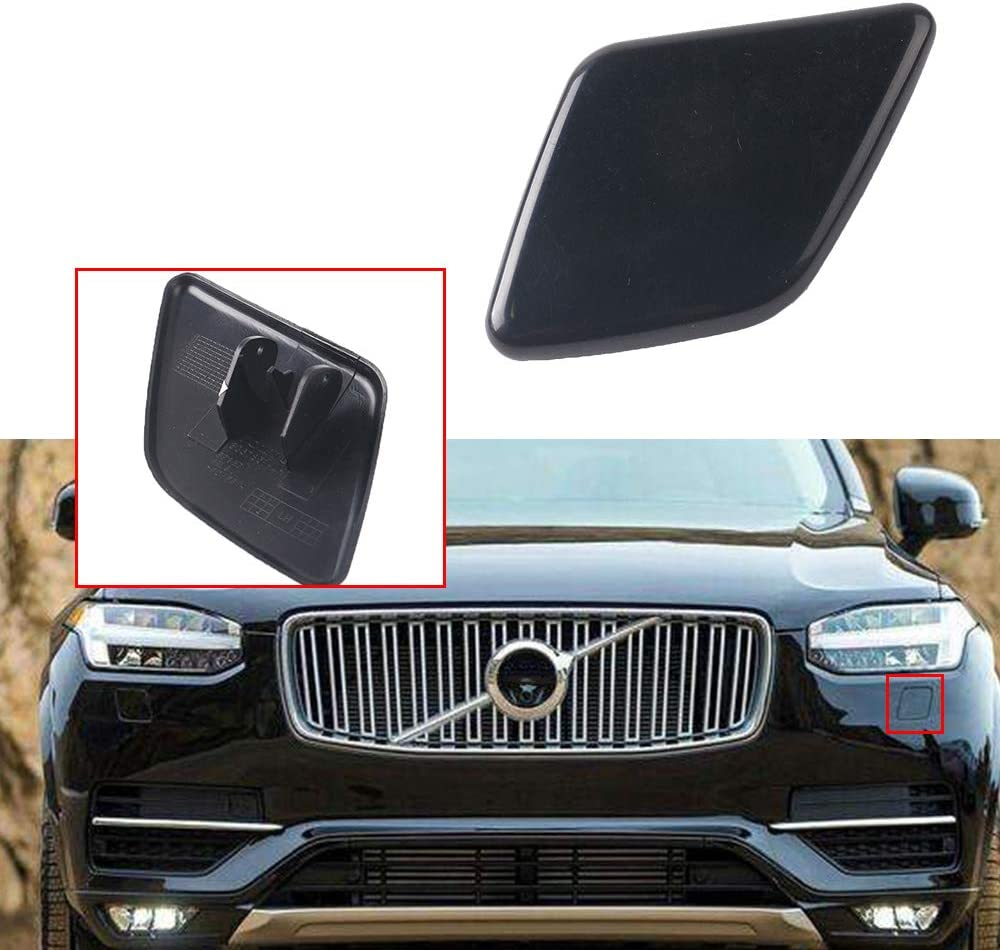 UPSM Front Bumper Headlight Washer Cap Nozzle Cover Unpainted Left Side Fit for Volvo XC90 2007-2014 39875253 3067857 Headlamp Cleaning Cover